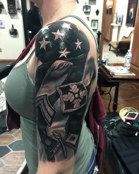 Tattoos - Flag / Military Patch  - 111612