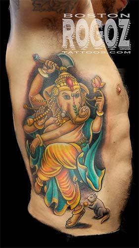 Tattoos - Ganesh rib tattoo - 98908