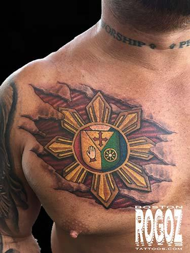 Tattoos - family crest tattoo - 119627