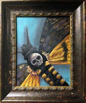 Boston Rogoz - DEath Head Hawk Moth Painting
