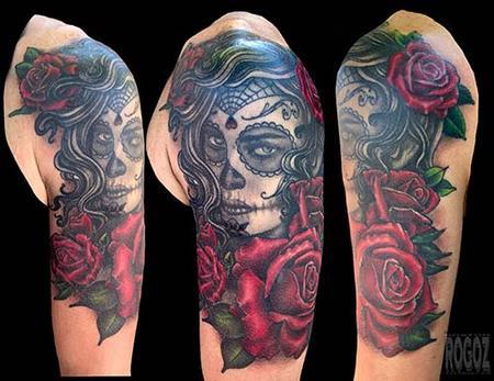 Tattoos - Dia de los muertos girl - 139462