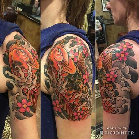 Tattoos - Koi quarter sleeve - 139458