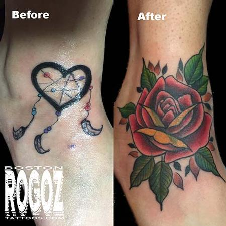 Tattoos - rose coverup - 119645