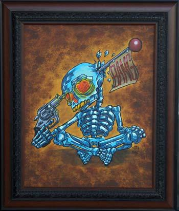 Tattoos - Suicide Skeleton Painting - 70684