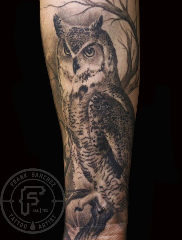 Tattoos - Owl sleeve - 67376