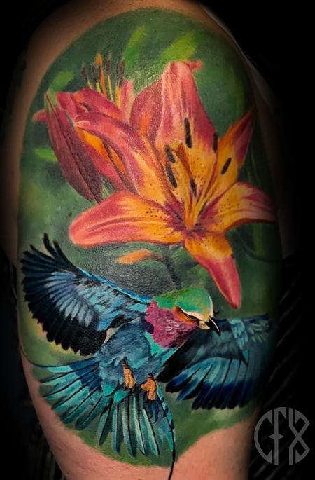 Calvin F. Xavier III - Flower/Bird
