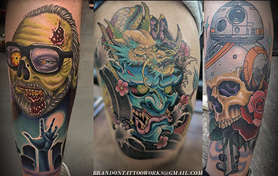 cb4fe6b21 BRANDON DAVENPORT has been tattooing for 16 yrs. He currently works at  Kingpin Tattoos in Ft.Hood, TX. Brandon has over 60 awards to his name and  ...