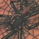 Spider and Web Tattoo Thumbnail