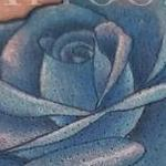 Blue Rose Cover Up Tattoo Thumbnail