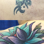 Frog to Flower Coverup Tattoo Thumbnail