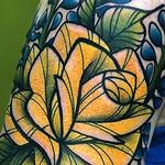Rose/Bluebonnet Tattoo Thumbnail