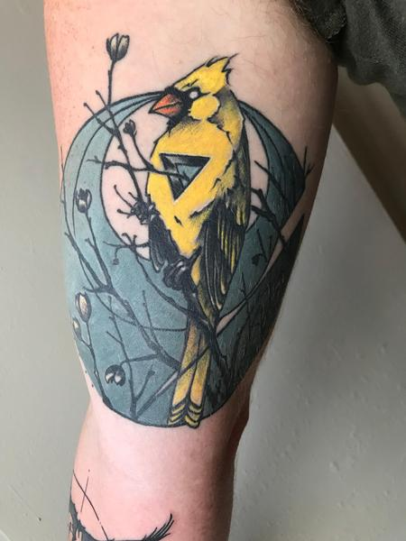 Tattoos - Yellow Cardinal  - 134355