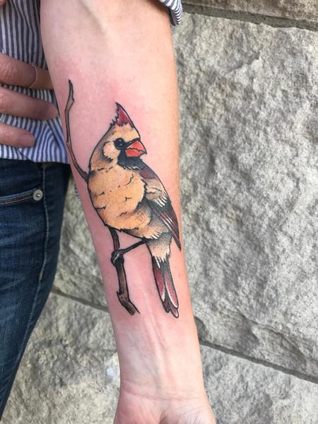 Tattoos - Female Cardinal  - 129810