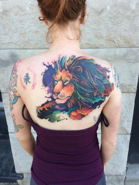 Tattoos - Lion cover up  - 128284