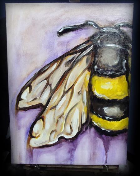 Tattoos - Bee, Oil on canvas - 60267
