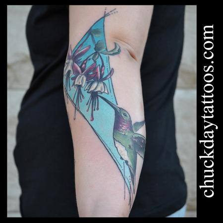 Tattoos - Hummingbird and Fuschia - 94666