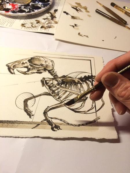 Tattoos - Geoanatomical Rat - 116049
