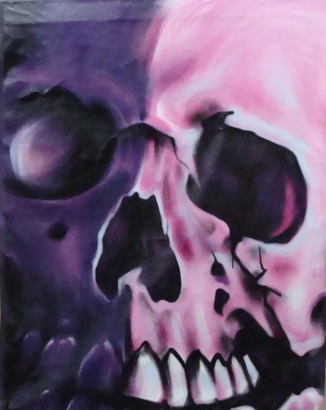 Tattoos - spray paint skull colaboration - 51747