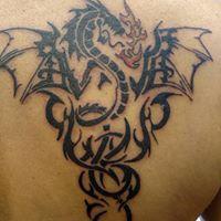 Tattoos - Tribal Dragon - 131307