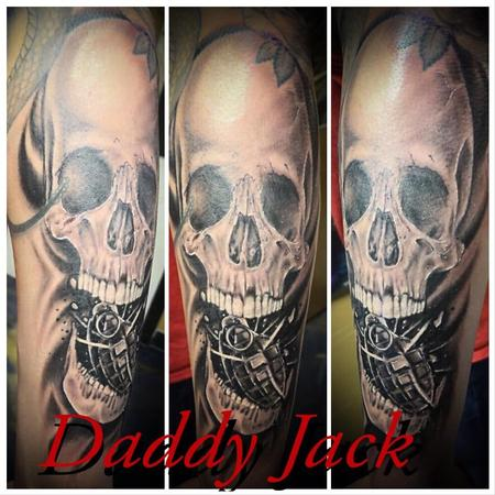 Tattoos - Skull and grenade - 137755