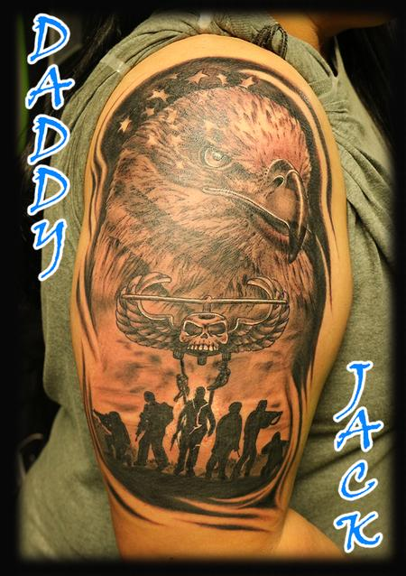 Daddy Jack - Eagle_AmericanFlag_soldiers_AirAssault_ByJack