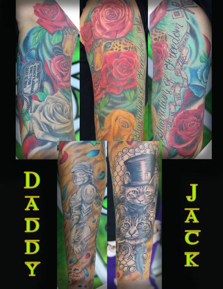 Tattoos - FancyCats_Knight_Roses_Sleeve_Daddy_Jack - 128999