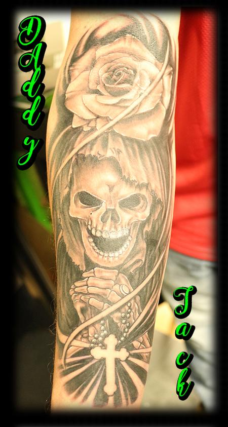 Tattoos - GrimReaper_Rose_TattooByDJack - 132703