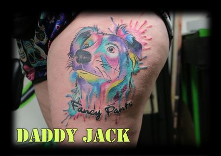 Tattoos - watercolor_animal_portrait_tattoobyDaddyJack - 132535