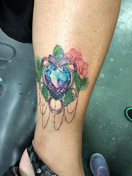 Tattoos - Ornamental Jewel Turtle - 139894