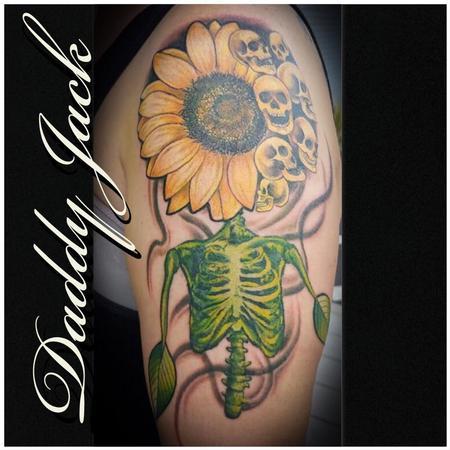 Wicked Sunflower Tattoo Design