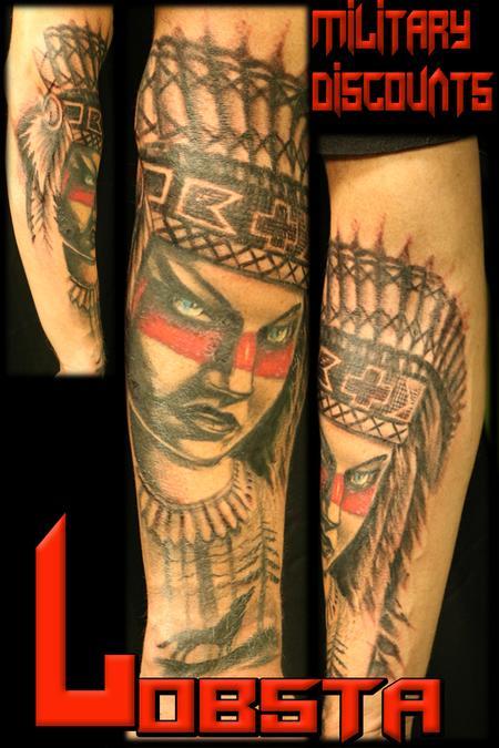 Tattoos - Native Woman - 131295