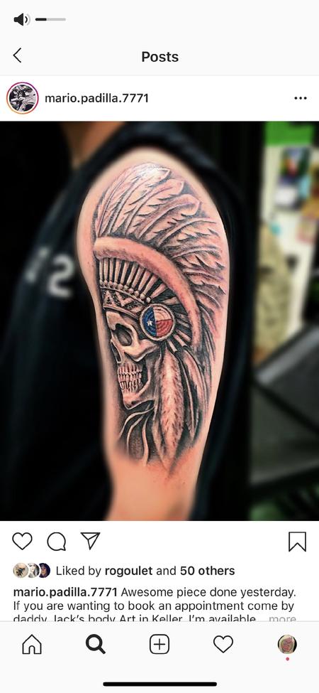 Tattoos - Skull w/ Headdress - 139440