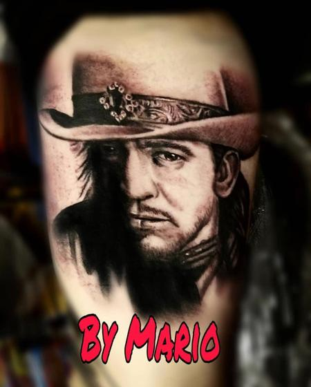 Tattoos - Stevie Ray Vaughan Portrait - 139011