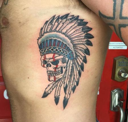 Tattoos - Skull w/ Headdress - 139442