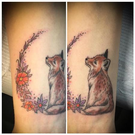 Tattoos - Fox and Flowers - 139886