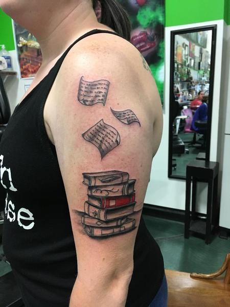 Tattoos - Stack of Books - 139887