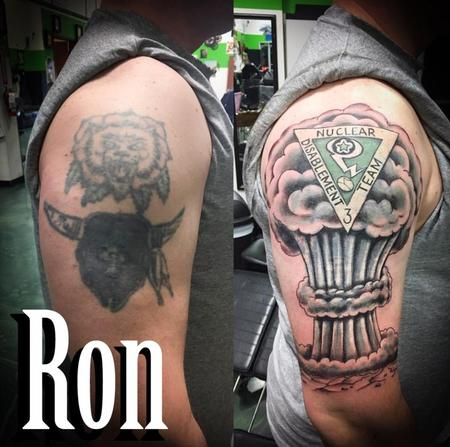 Tattoos - Cover Up- Special Forces Nuclear Explosion - 137798