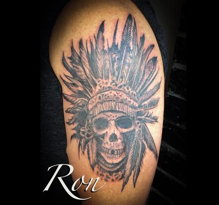 Ron Goulet - Native American Skull Chief