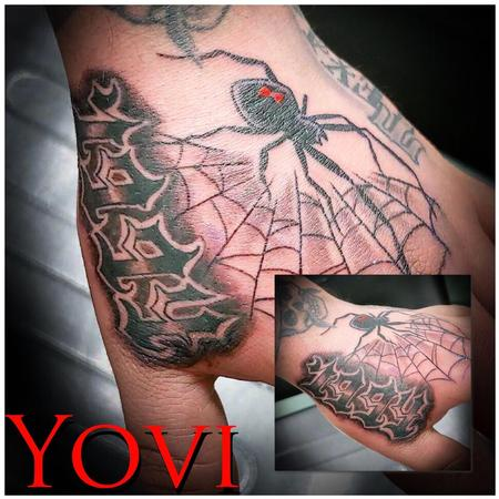 Tattoos - Spider/web and Birth Year - 138537