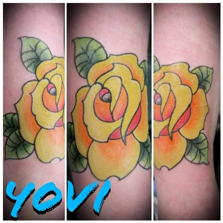 Tattoos - Yellow Rose - 137810