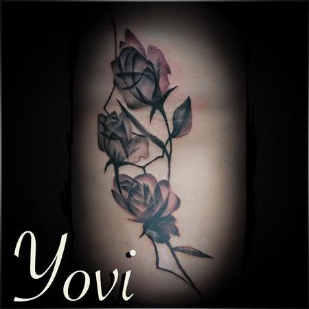 Abstract Rose Tattoo Design