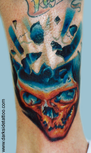 Tattoos - exploding skull - 2941