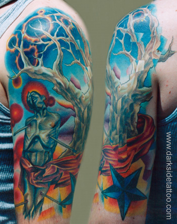 Tattoos - martyr and tree - 2743