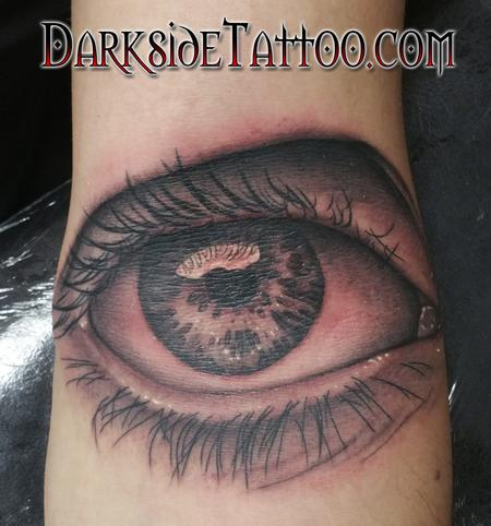 Tattoos - Black and Gray Eye Tattoo - 108798