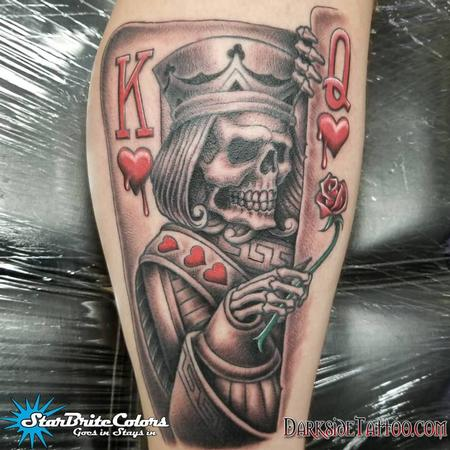 Black and Gray King Tattoo