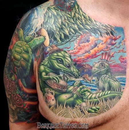 Grateful Dead Alligator Tattoo Design