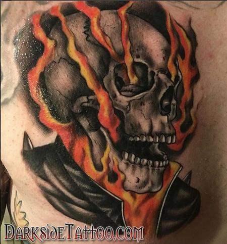 Color Ghostrider Tattoo