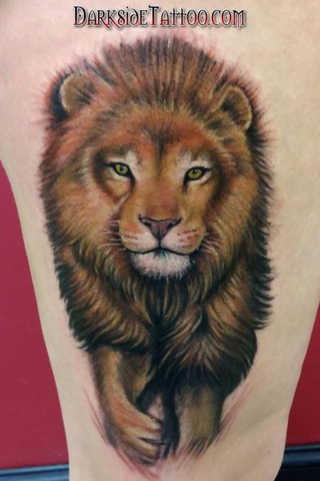 Tattoos - Color Lion Tattoo - 104631