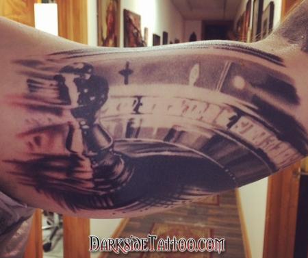 Roulette Wheel Tattoo Design