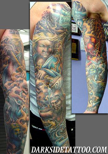 Tattoos - Religious Sleeve - 2288